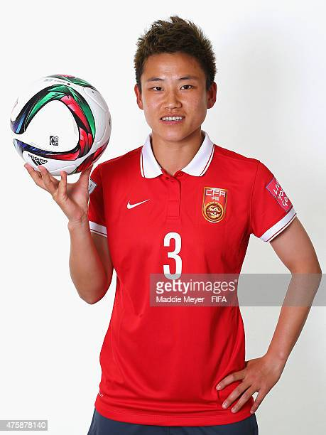 Pang Fengyue of China during the FIFA Women's World Cup 2015 portrait session at the Delta Edmonton South on June 3 2015 in Edmonton Canada