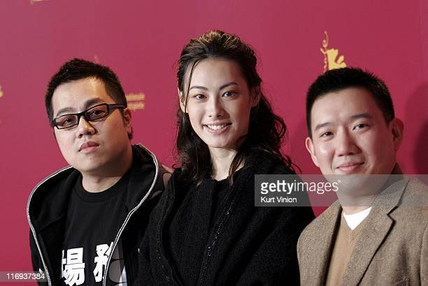 Pang HoCheung Isabella Leong and Chapman To during 56th Berlinale International Film Festival Isabella Photocall at Berlinale in Berlin Germany