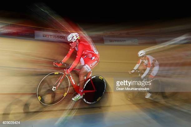 Pang Yao of Hong Kong competes in the Women's Points Race Final during the Tissot UCI Track Cycling World Cup 20162017 held at the sport centre...