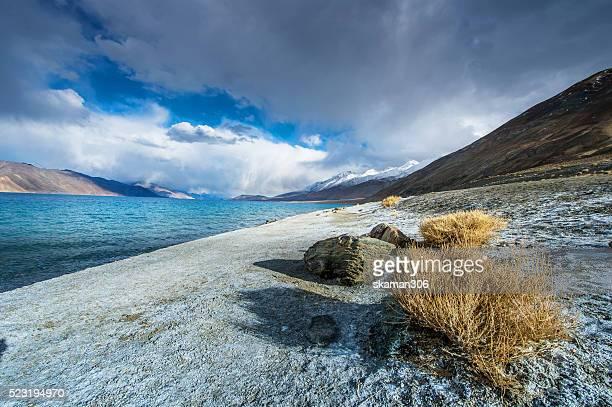 Pangong Lake (Pangong Tso) ,Ladakh ,Jammu and Kashmir, India.