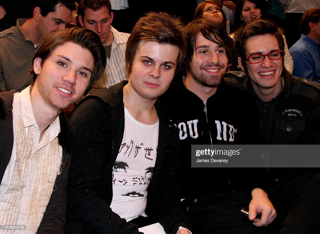 Panic! At The Disco during Celebrities Attend Washington Wizards vs. New York Knicks Game - November 15, 2006 at Madison Square Garden in New York City, New York, United States.