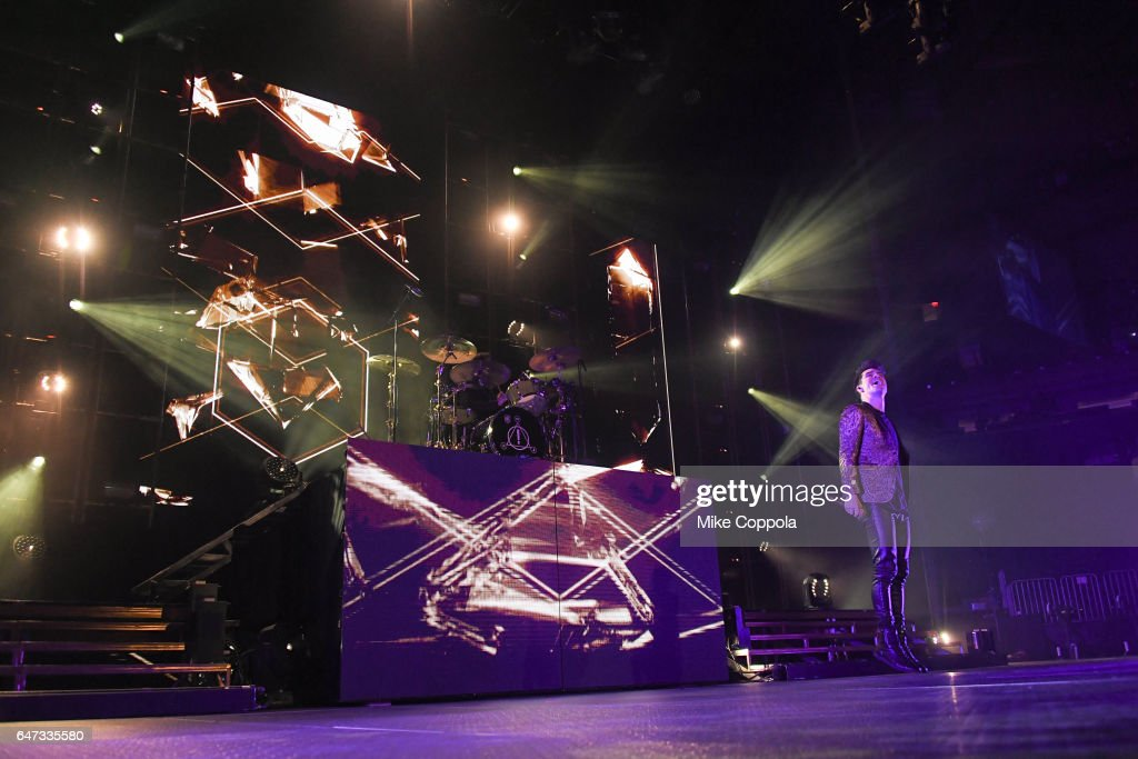 Panic! At The Disco Singer Brendon Urie Performs At Madison Square Garden  On March 2 Good Looking