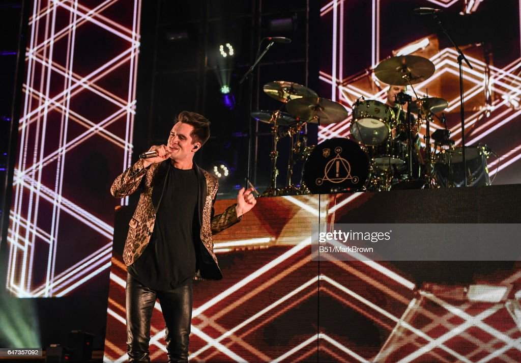 High Quality Panic! At The Disco Singer Brendon Urie Performs At Madison Square Garden  On March 2