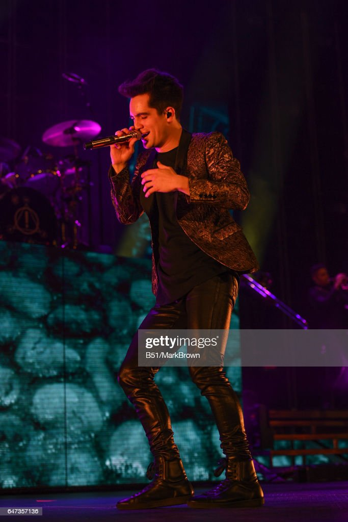 Panic! At The Disco Singer Brendon Urie Performs At Madison Square Garden  On March 2