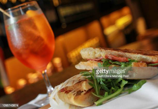 Panini and drinks Aperol Spritz at Stazione Novella 5256 Staunton street Central 21MAY15 [MAY2015 48Hrs SNACK TIME COLUMN]