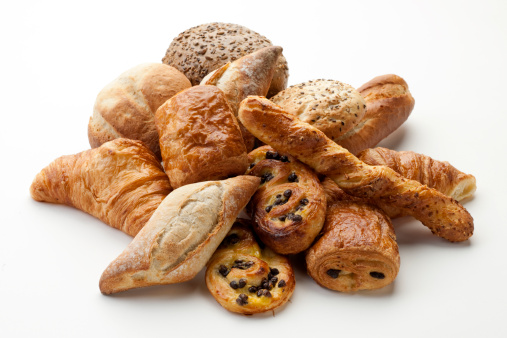 panini, croissants, Danish, pain au chocola, whole wheat buns XXXL 157441693