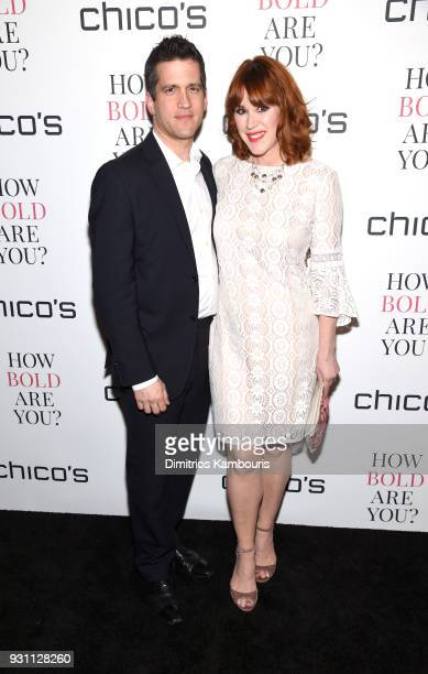 Panio Gianopoulos and Molly Ringwald attend Chico's #HowBoldAreYou NYC Event at Joe's Pub on March 12 2018 in New York City
