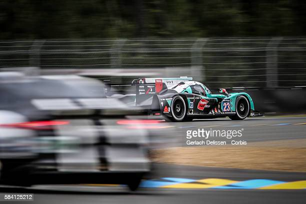 Panis Barthez Competition #23 Ligier JS P2 Nissan with Drivers Fabien Barthez Paul Loup Chatin and Timothy Buret during the 84th running of the Le...