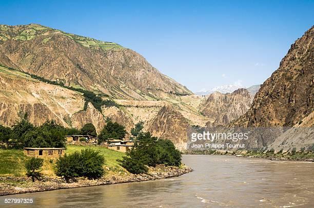 Panj River along the Afghan Border
