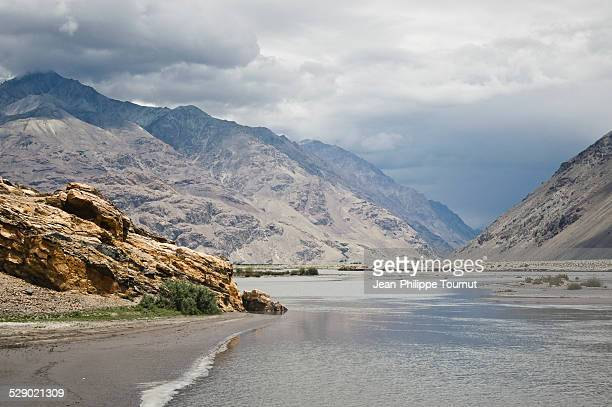 Panj River and the Hindu Kush in Afghanistan
