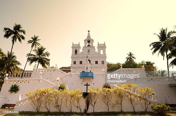 panjim church, goa - goa stock pictures, royalty-free photos & images