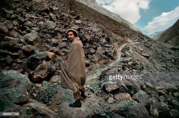 1985 Panjshir Valley Afghanistan Portrait of Commander Massoud head of the Afghan resistance against the Soviet invasion