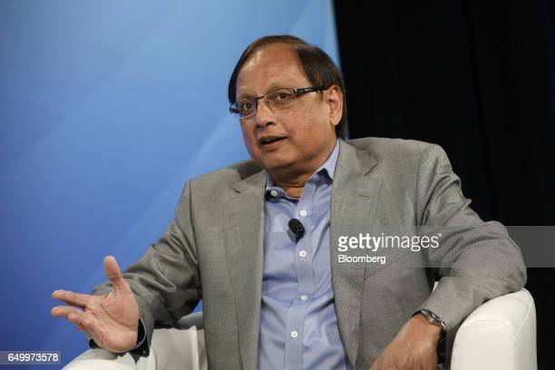 Pankaj Patel former executive vice president and chief development officer of Cisco Systems Inc speaks during The Montgomery Summit in Santa Monica...