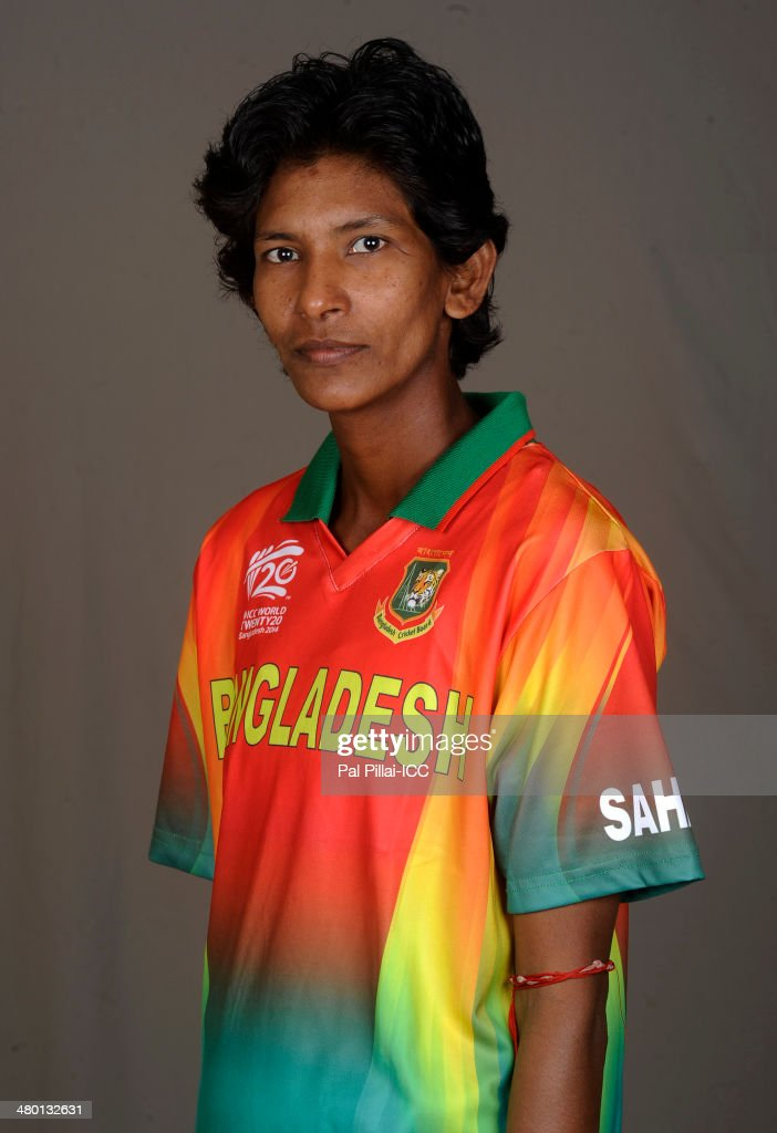 Panna Ghosh of Bangladesh poses for a portrait during the women's headshot session before the start of the ICC Women's World T20 at the Sylhet...