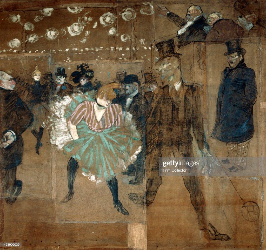 La Goulue and Valentin le desosse, 1895. Artist: Henri de Toulouse-Lautrec : Nachrichtenfoto