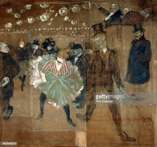 Panneau pour la baraque de la Goulue a la Foire du Trone Le Moulin Rouge La Goulue et Valentin le desossee Henri de ToulouseLautrec 298 x 316 cm...