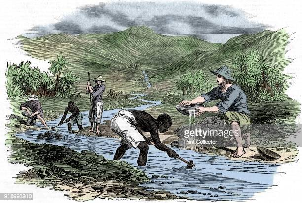 Panning for gold during the Californian Gold Rush of 1849 The discovery of gold in 1848 led to mass immigration into California with over half a...