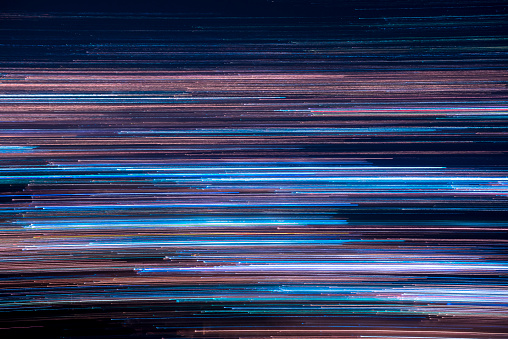 Panning of city lights view from high - gettyimageskorea