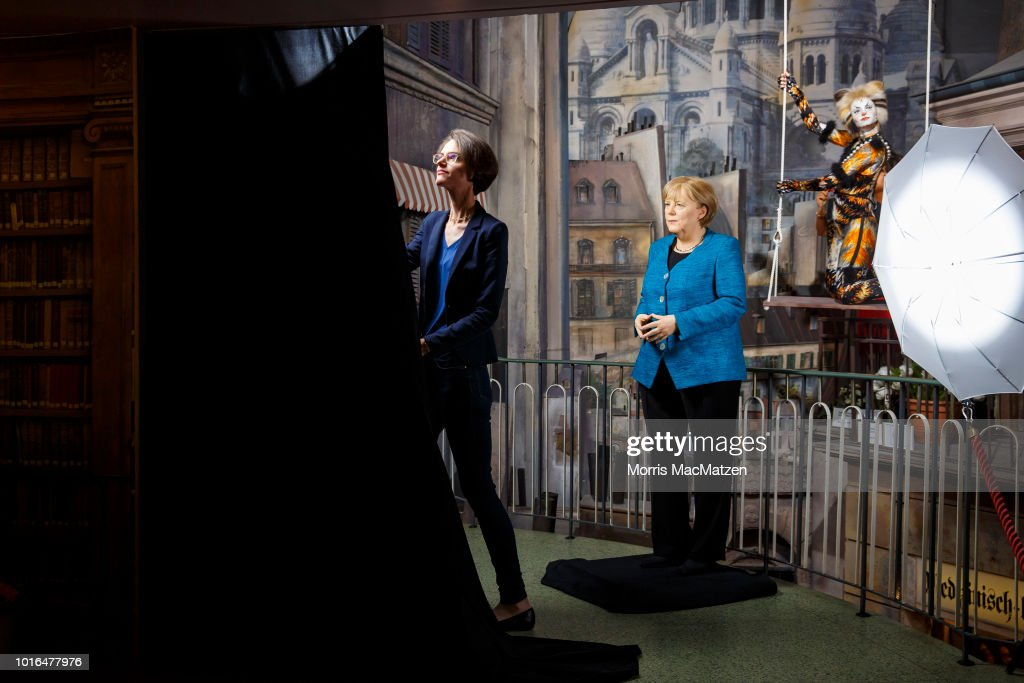 Angela Merkel Wax Figure Presentation At Panoptikum