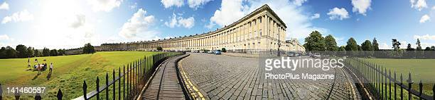 Panorama across one end of the Royal Crescent in Bath taken on July 24 2009 The Crescent is considered a prime example of surviving 18th century...