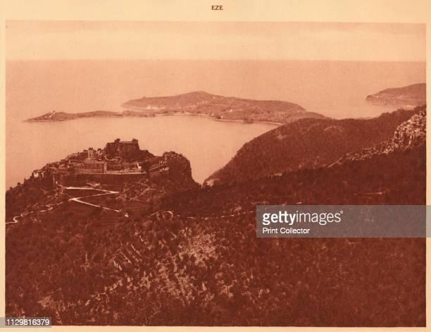 'Panorama and Cap Ferrat seen from the Grande Corniche Eze' 1930 From La Cote d'Azur de Marseille a Menton [Levy Neurdein Paris 1930] Artist Unknown