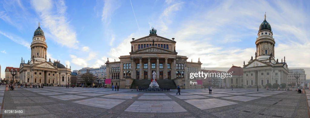Panorama Berlin Gendarmenmarkt (Berlin, Germany) : Stock Photo