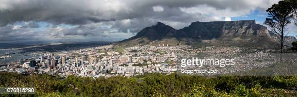 Panorama Capetown view to table mountain