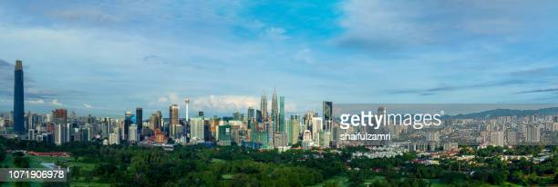 panorama cityscape view in the middle of kuala lumpur city center. - shaifulzamri stock pictures, royalty-free photos & images