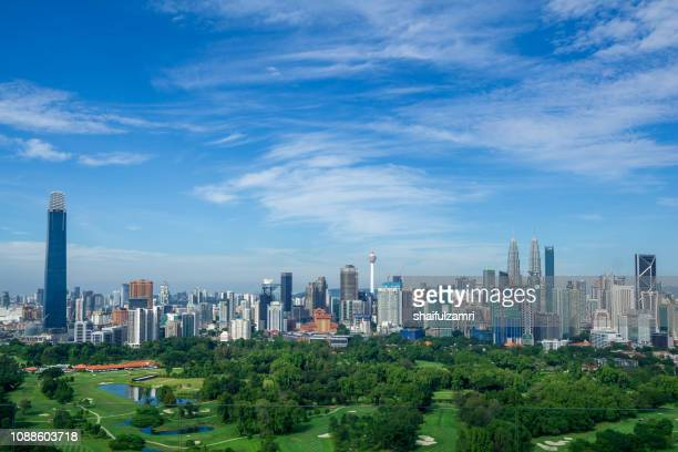 Panorama cityscape view in the middle of Kuala Lumpur city center, Malaysia