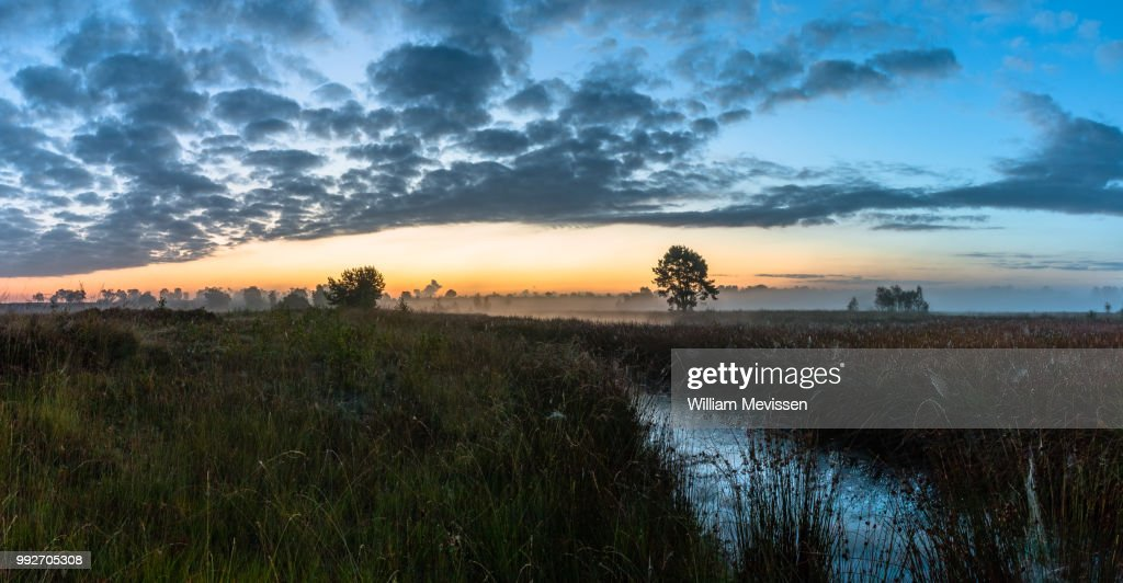 Panorama 'Cloudy Misty Morning' : Stockfoto