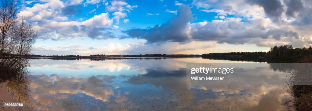 Panorama 'Cloudy Reflections' : Stockfoto