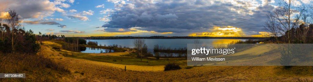 Panorama 'Cloudy Sunset' : Stockfoto
