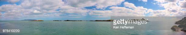 panorama dalkey island - dalkey stock pictures, royalty-free photos & images