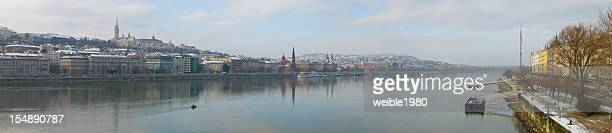 Panorama an der Donau in Budapest