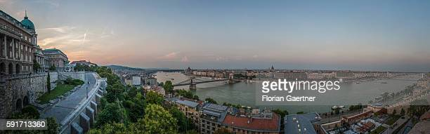 Panorama during evening light on July 24 2015 in Budapest Hungary