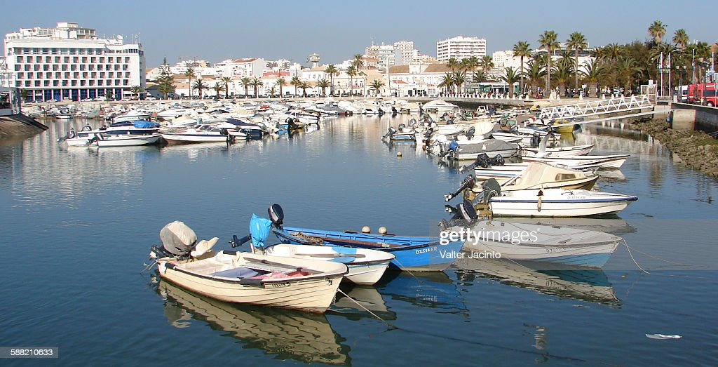 Panorama: Faro city, Portugal : Stock Photo