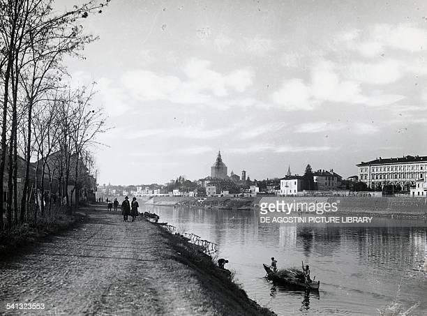 Panorama from Borgo Ticino Basso in Pavia Lombardy 1919 Italy 20th century