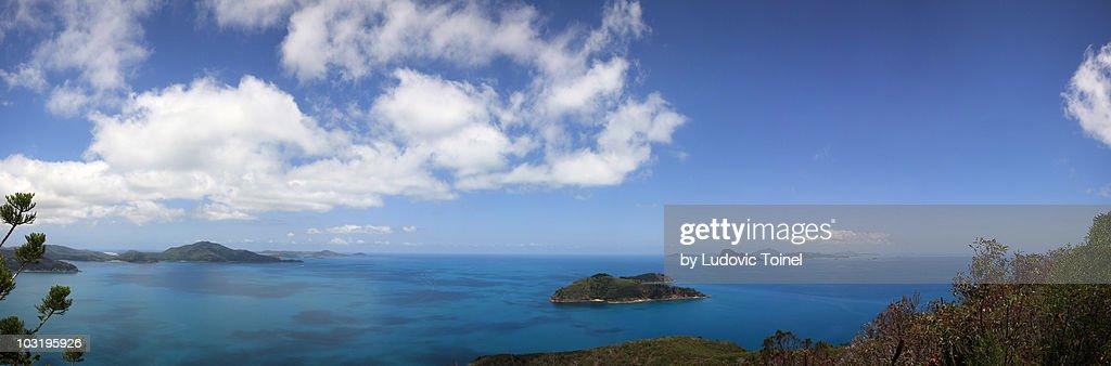 A panorama from Hamilton Island : Stock Photo