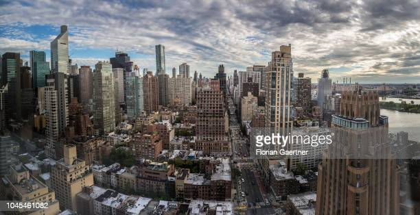 Panorama from Manhattan on September 27 2018 in New York United States