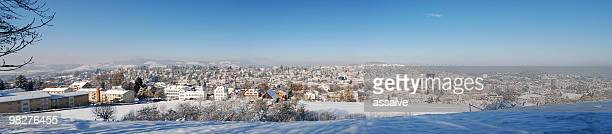 XXL-panorama von St.Gallen, Schweiz, im winter