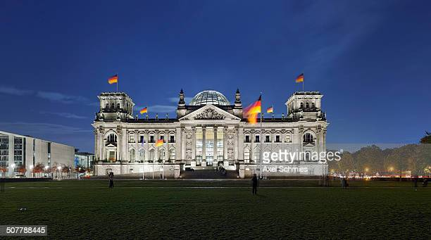 Panorama, German Reichstag Building, Charlottenburg, Berlin, Germany.