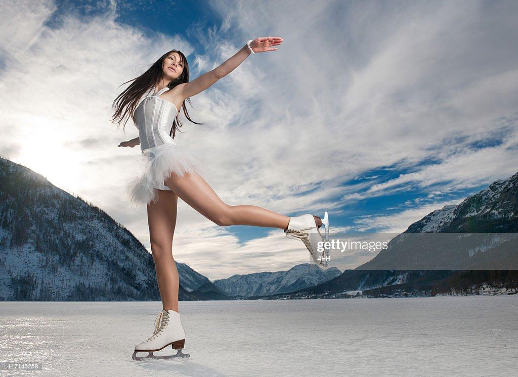 Panorama Ice Skating (XXXL) : Bildbanksbilder