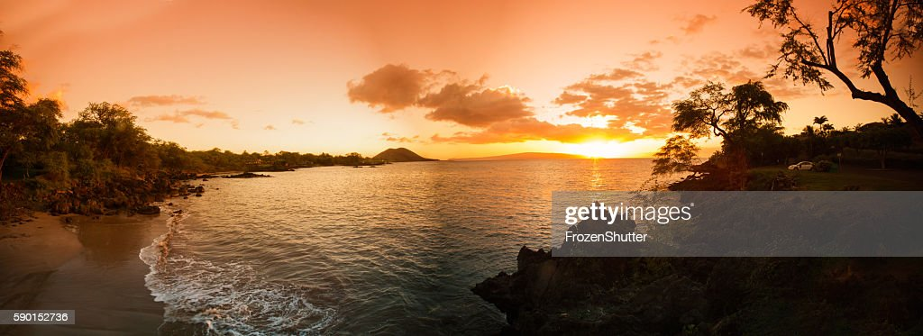 Panorama image of a Hawaiian beach : Stock Photo
