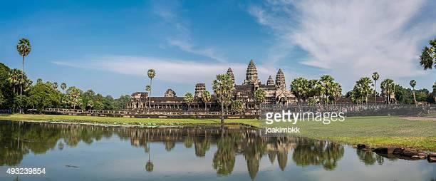 Panorama de paisagem de Angkor Wat, Camboja
