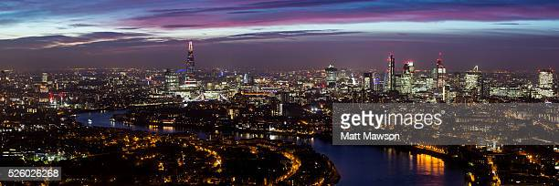 Panorama looking west over the city of London England UK