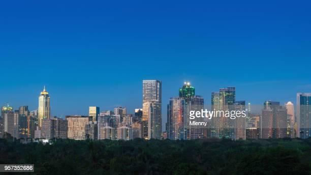 Panorama Makati Skyscraper Cityscape Manila Philippines