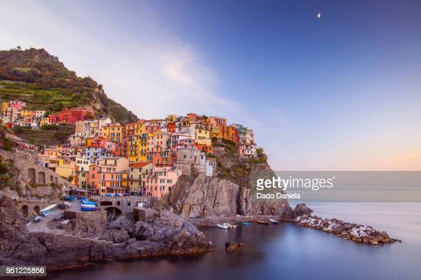 panorama manarola - tuscany stock pictures, royalty-free photos & images