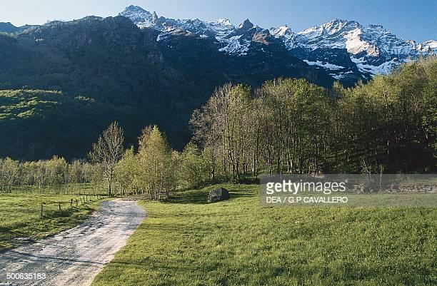 Panorama near Forno Grande valley Piedmont Italy