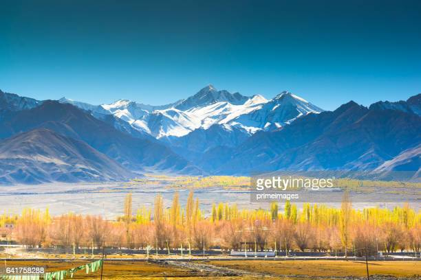 Panorama of a nature and landscape view in Leh ladakh india