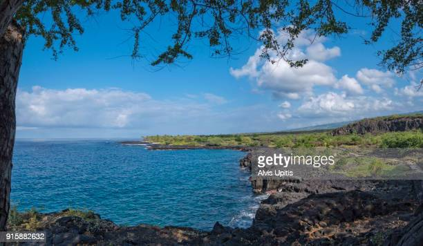 Panorama of Alahaka Bay in Pu'uhonua o Honaunau NP in Hawaii